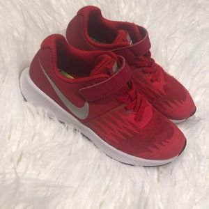 Boys Red Nike. Size 13